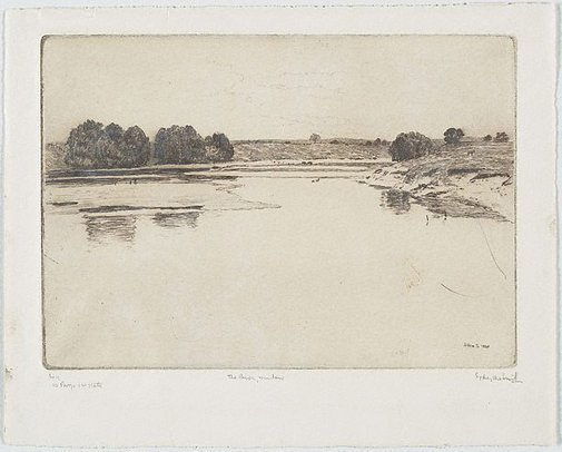 An image of The river, Windsor by Sydney Ure Smith