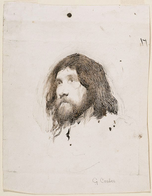 An image of Head study of a bearded man