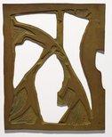 Alternate image of Four linoblocks for 'The acrobats' by Dorrit Black