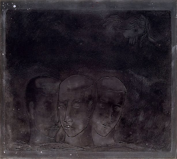 An image of Plate for aquatint 'The blind man'
