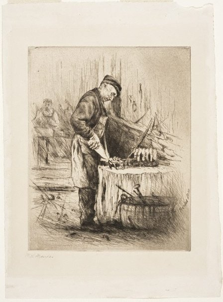An image of The old brushmaker by Mortimer L Menpes