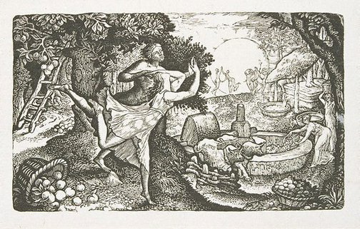 An image of The cyder feast by Edward Calvert