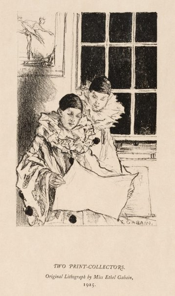 An image of Two print-collectors by Ethel Gabain
