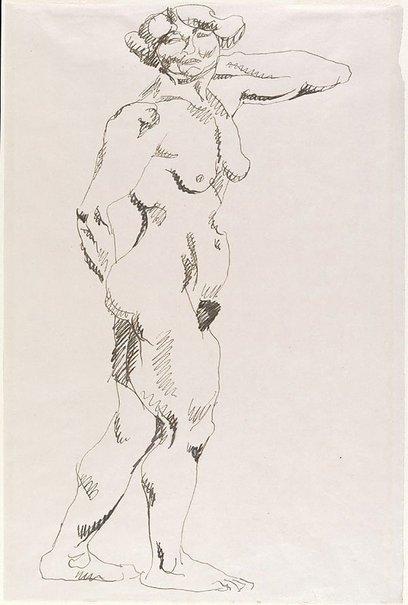 An image of Standing female nude by Henri Gaudier-Brzeska