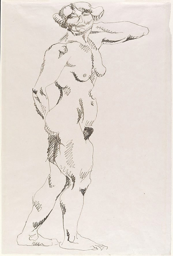 An image of Standing female nude
