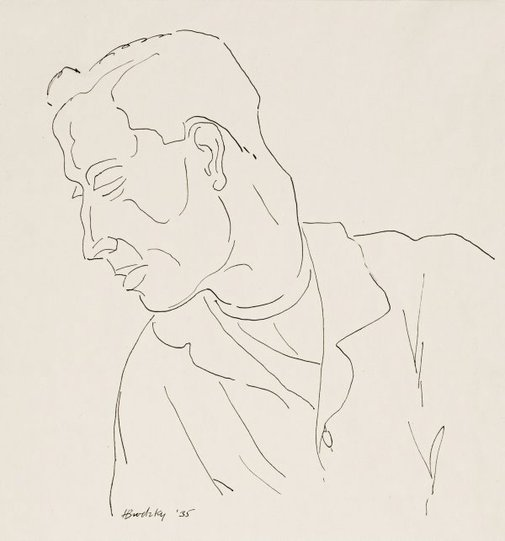 An image of Head and shoulders of a man facing left by Horace Brodzky