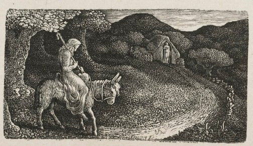 An image of The return home by Edward Calvert