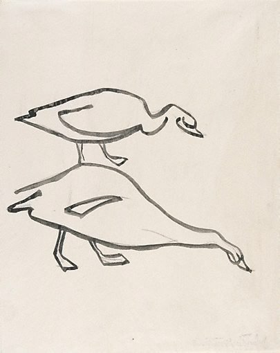 An image of Two geese by Henri Gaudier-Brzeska