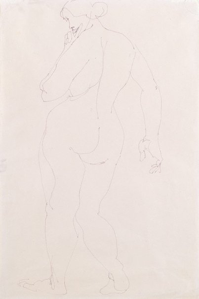 An image of Standing female nude, back view by Henri Gaudier-Brzeska