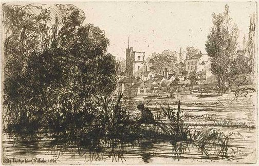 An image of Twickenham Church by Sir Francis Seymour Haden