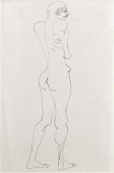 An image of Standing nude boy, back view by Henri Gaudier-Brzeska
