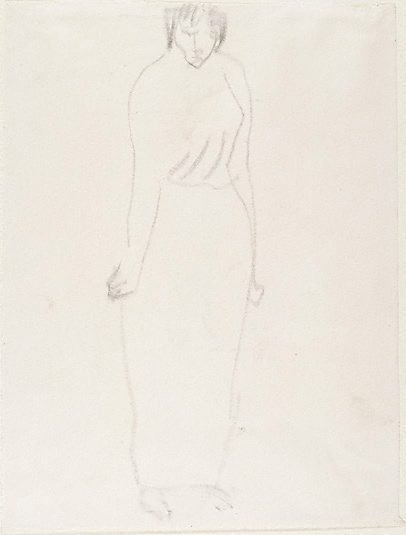 An image of Standing woman in long skirt by Henri Gaudier-Brzeska