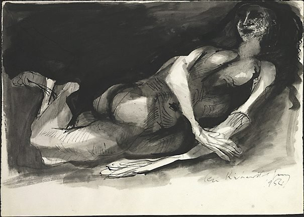 An image of Nude resting