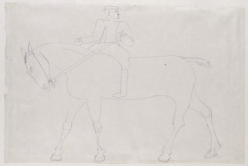 An image of Horse and rider by Henri Gaudier-Brzeska