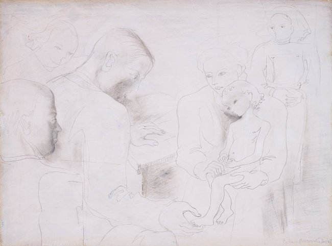 AGNSW collection Dame Barbara Hepworth The clinic no.2 1947