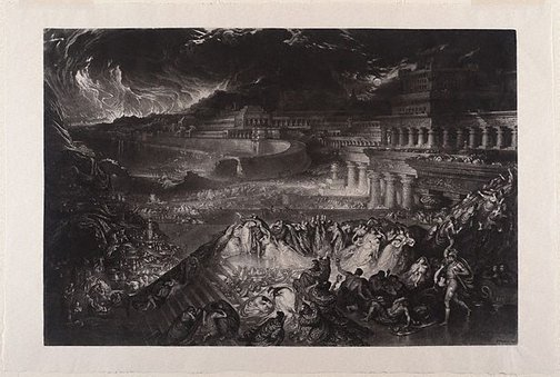 An image of The fall of Nineveh by John Martin