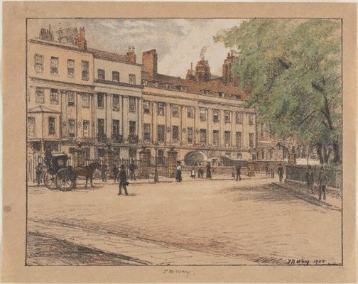 An image of Arch row, Lincoln's Inn Fields by Thomas Robert Way