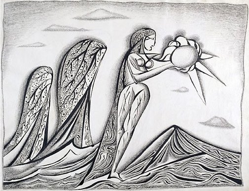 An image of The sun bearers by Cecil Collins