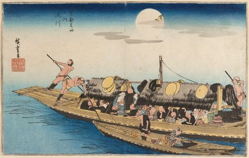 An image of Yodo River by Hiroshige Andô/Utagawa