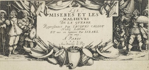 An image of Title page by Jacques Callot