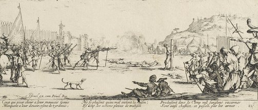 An image of The firing squad by Jacques Callot