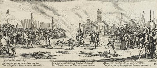 An image of The stake by Jacques Callot