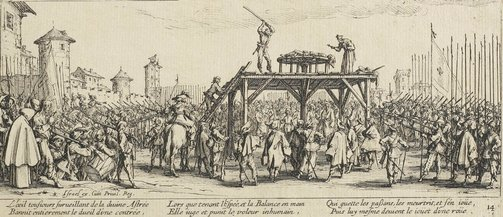 An image of The wheel by Jacques Callot