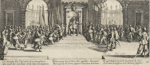 An image of Distribution of rewards by Jacques Callot