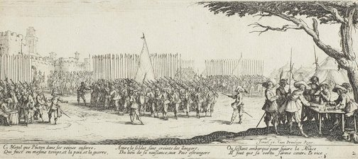 An image of Recruitment of troops by Jacques Callot