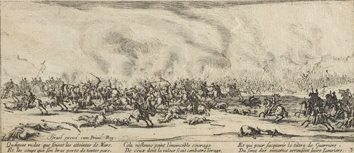 An image of The battle by Jacques Callot