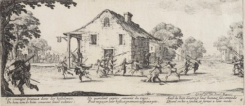 An image of Scene of pillage by Jacques Callot