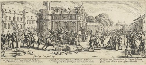 An image of Destruction of a convent by Jacques Callot