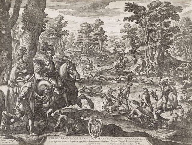 An image of The great stag and boar hunt