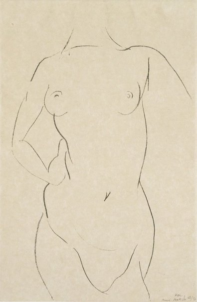 An image of Torso of a woman by Henri Matisse