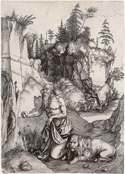 An image of St Jerome in penitence by Albrecht Dürer