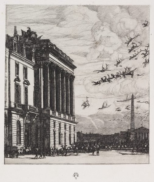 An image of The admiralty, Paris by Charles Meryon