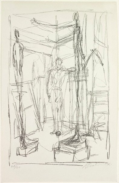 An image of Figure in the studio by Alberto Giacometti