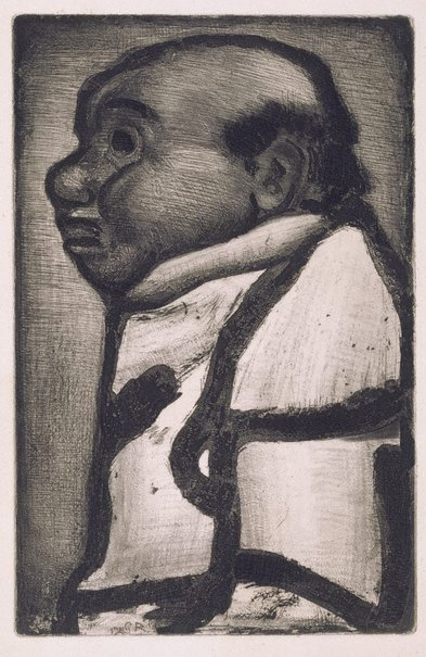 An image of A balding negro by Georges Rouault