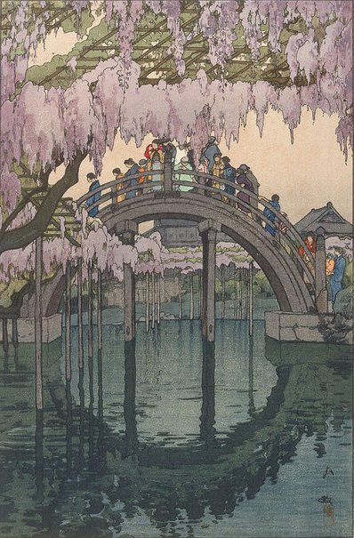 An image of Kameido Bridge by Yoshida Hiroshi