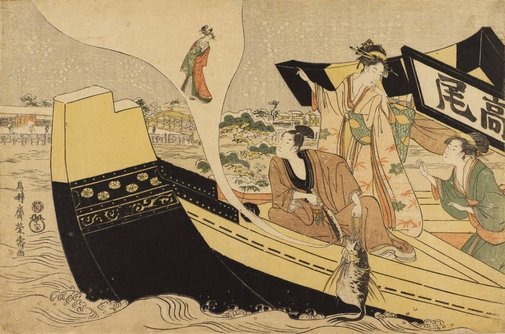 An image of Presentation (mitate) of the story of the courtesan Takao by Chōtensai Eiju