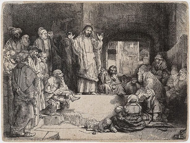 An image of Christ preaching