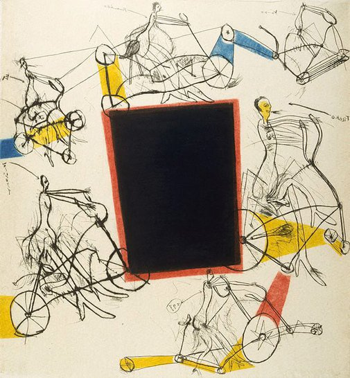 An image of Ladies on bicycles by Ikeda Masuo