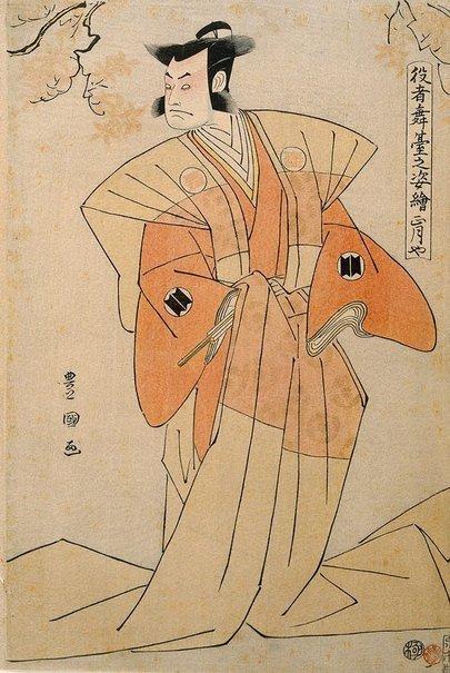 An image of Shôgatsu-ya (actor Sakata Hangorô III ) by Utagawa Toyokuni