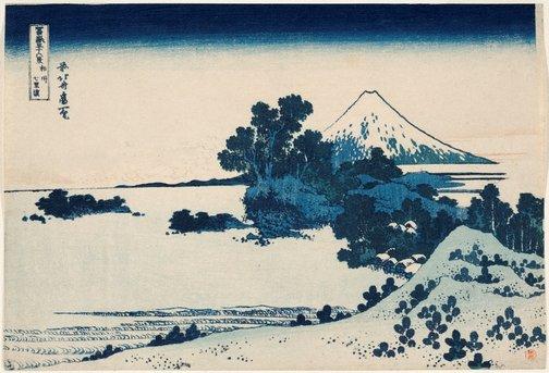 An image of Shichirigahama in Sagami Province by Hokusai Katsushika