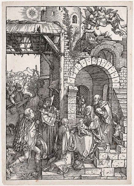 An image of The Adoration of the Magi by Albrecht Dürer