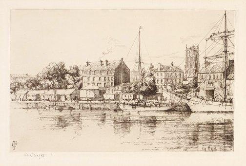 An image of Le Quai Beriquy, Dieppe by Eugène Béjot