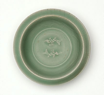 An image of Dish with fish decoration