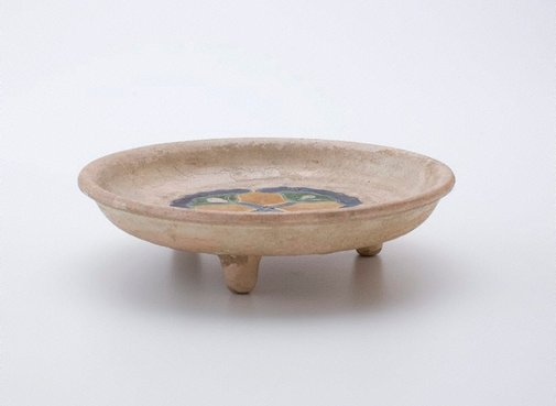 An image of Offering dish with lotus design by