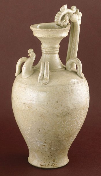 An image of Ewer with Chicken head and dragon handle by