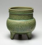 Alternate image of Tripod censer by Longquan ware